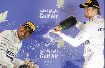 Gulf Weekly Hamilton rules on the desert track