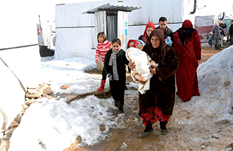 Gulf Weekly Help for freezing refugees