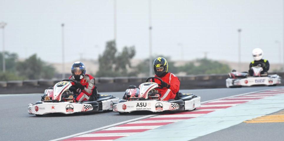 Gulf Weekly Universities go karting crazy
