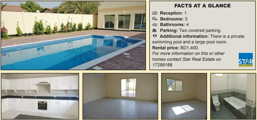 Gulf Weekly Spacious home with a pool
