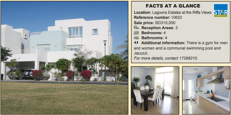 Gulf Weekly Villa with glorious lawn