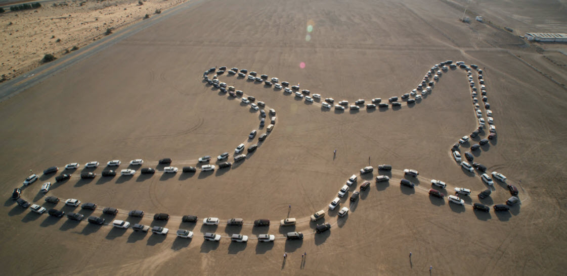 Gulf Weekly Desert falcon drive produces another world record
