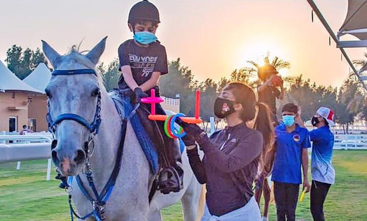 Gulf Weekly Hope in the saddle